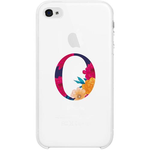 Apple iPhone 4 / 4s Firm Case Bokstaven - O