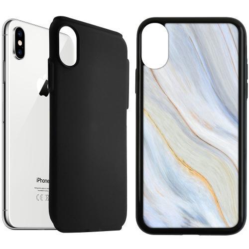 Apple iPhone XS Max Duo Case Svart Resting River