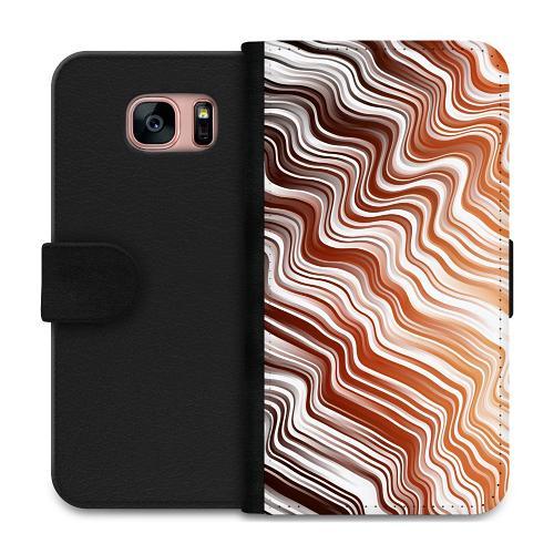 Samsung Galaxy S7 Plånboksfodral Distorted Soundwaves