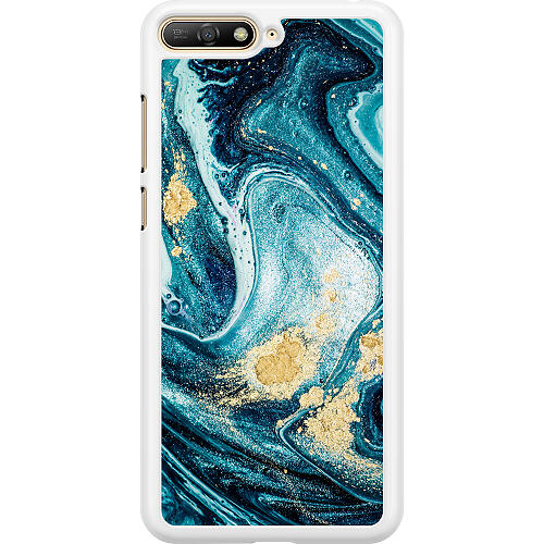 Huawei Y6 (2018) Hard Case (White) Golden Lavation