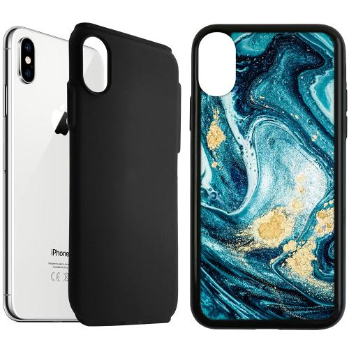 Apple iPhone XS Max Duo Case Svart Golden Lavation