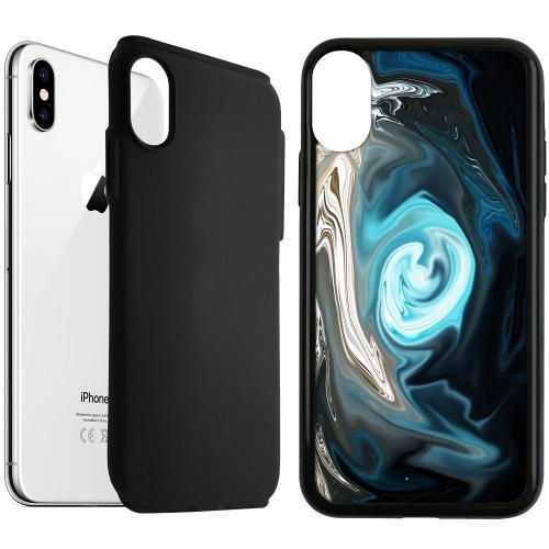 Apple iPhone XS Max Duo Case Svart Twisted Reality