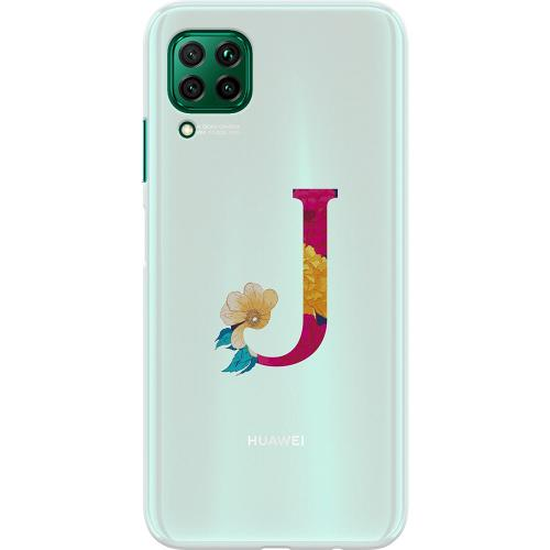 Huawei P40 Lite Thin Case Bokstaven - J