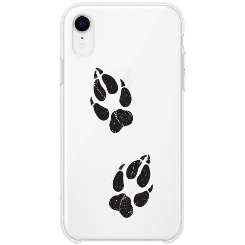 Apple iPhone XR Firm Case Paw Prints