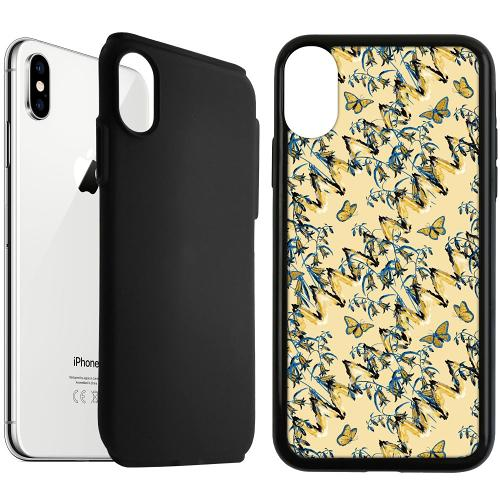 Apple iPhone XS Max Duo Case Svart Blissful Purity