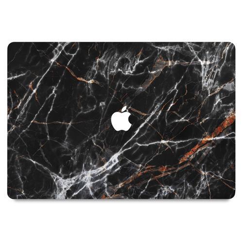 "MacBook 12"" Skin BL4CK MARBLE"