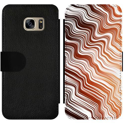 Samsung Galaxy S7 Wallet Slimcase Distorted Soundwaves
