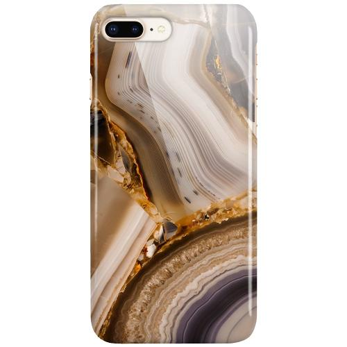 Apple iPhone 8 Plus LUX Mobilskal (Glansig) Amber Agate