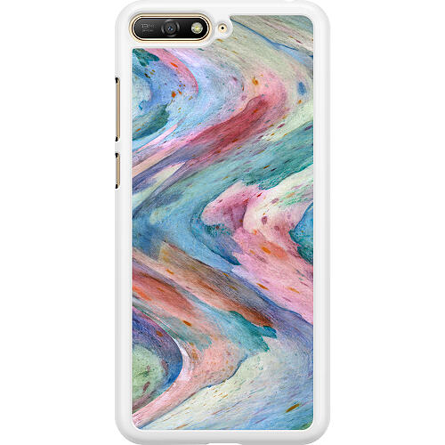 Huawei Y6 (2018) Hard Case (White) Warped Existence