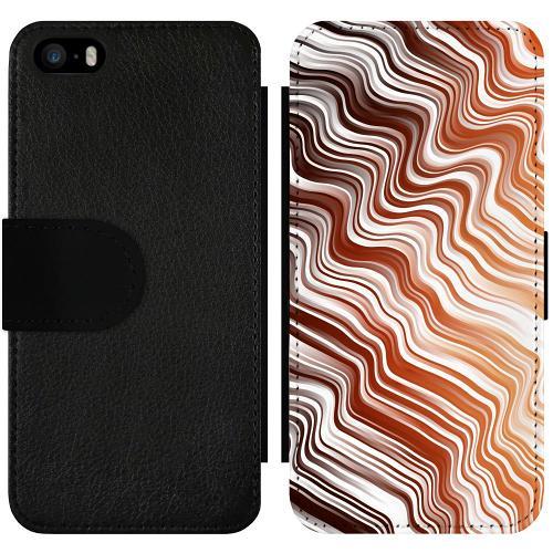 Apple iPhone 5 / 5s / SE Wallet Slimcase Distorted Soundwaves