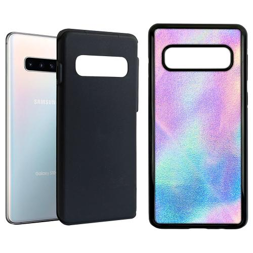 Samsung Galaxy S10 Duo Case Svart Frosted Lavender