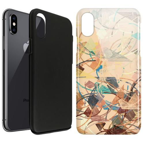 Apple iPhone X / XS LUX Duo Case Colourful Expectations