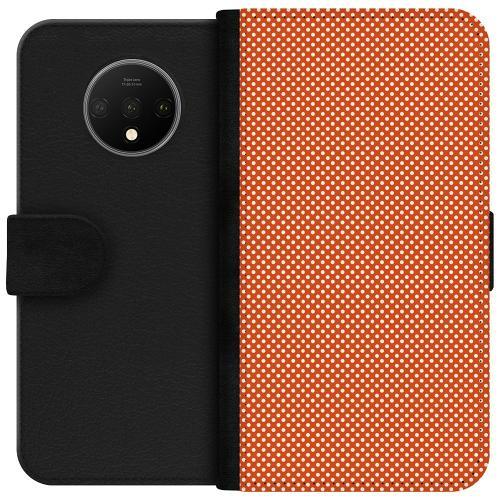 OnePlus 7T Plånboksfodral Orange Droplets