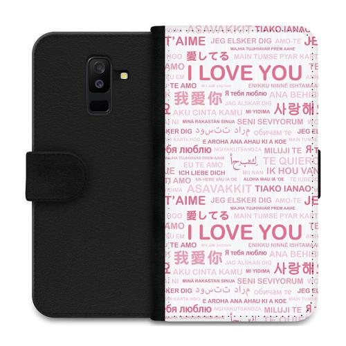 Samsung Galaxy A6 Plus (2018) Plånboksfodral International Love