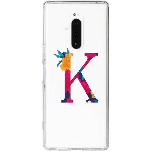Sony Xperia 1 Thin Case Bokstaven - K