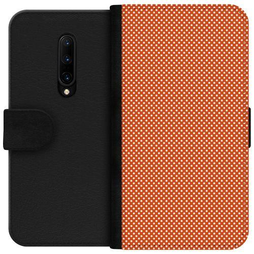 OnePlus 7T Pro Plånboksfodral Orange Droplets