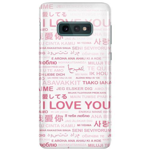 Samsung Galaxy S10e LUX Mobilskal (Glansig) International Love