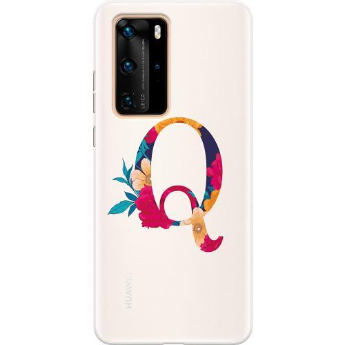 Huawei P40 Pro Thin Case Bokstaven - Q