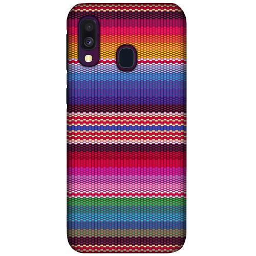 Samsung Galaxy A40 LUX Mobilskal (Matt) Vivid Tapestry