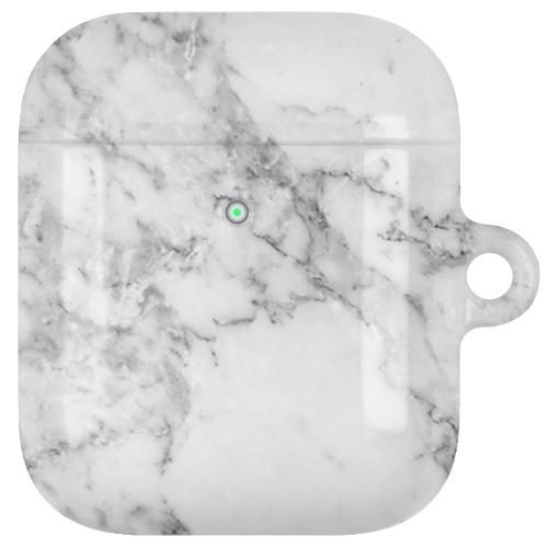 AirPods LUX Case (Glansig) - Marmor Vit