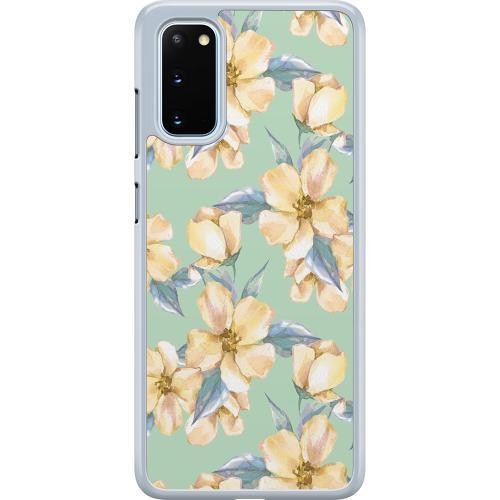 Samsung Galaxy S20 Hard Case (Transparent) Waterproof Flowers