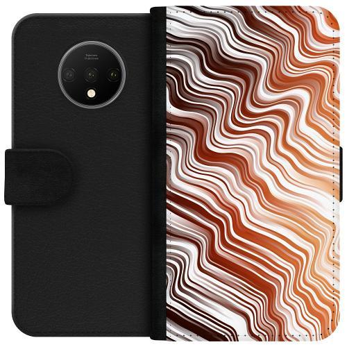 OnePlus 7T Plånboksfodral Distorted Soundwaves
