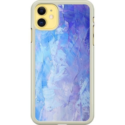 Apple iPhone 11 Hard Case (Transparent) Pristine Pastel Strokes