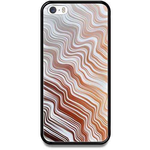 Apple iPhone 5 / 5s / SE Mobilskal med Glas Distorted Soundwaves