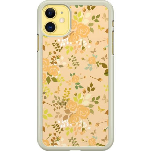 Apple iPhone 11 Hard Case (Transparent) Flowery Tapestry