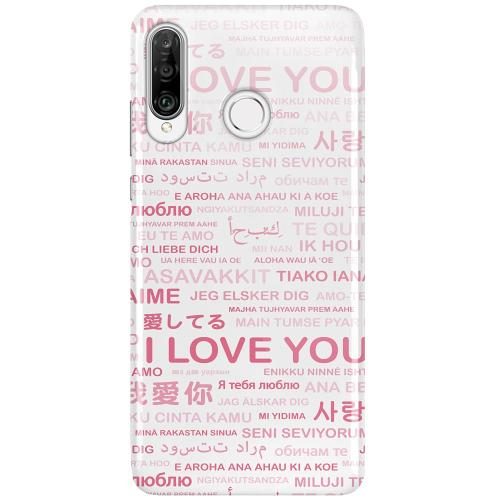 Huawei P30 Lite LUX Mobilskal (Glansig) International Love