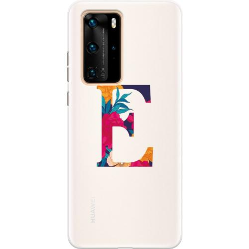 Huawei P40 Pro Thin Case Bokstaven - E