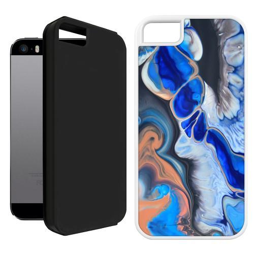 Apple iPhone 5 / 5s / SE Duo Case Svart Pure Bliss