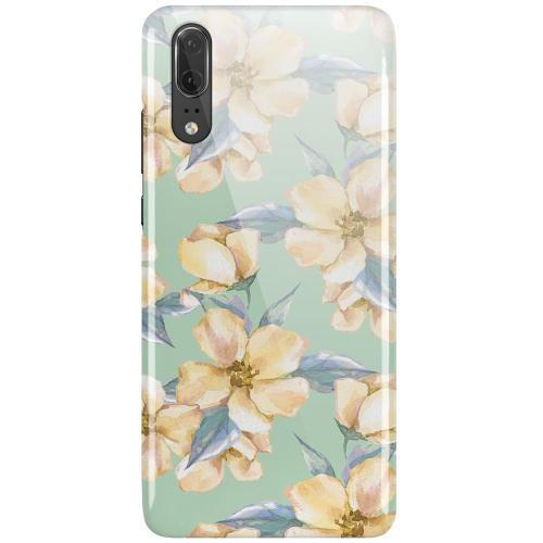 Huawei P20 LUX Mobilskal (Glansig) Waterproof Flowers