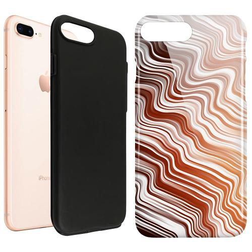 Apple iPhone 8 Plus LUX Duo Case Distorted Soundwaves