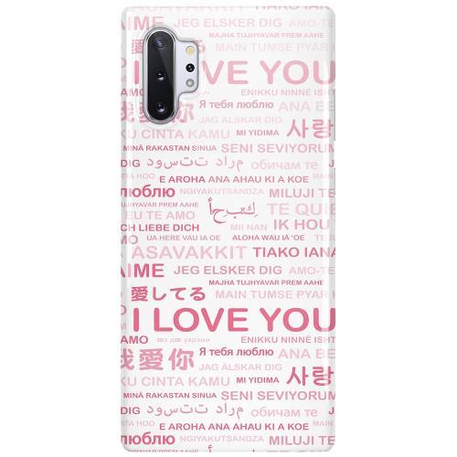 Samsung Galaxy Note 10 Plus LUX Mobilskal (Glansig) International Love