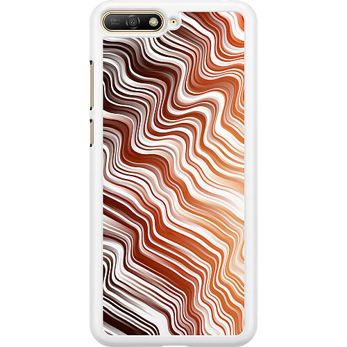 Huawei Y6 (2018) Hard Case (White) Distorted Soundwaves