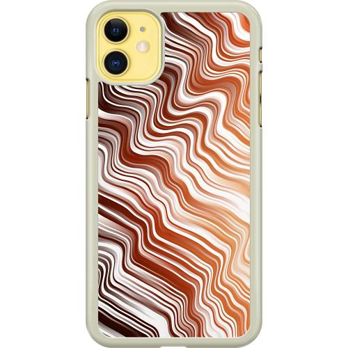 Apple iPhone 11 Hard Case (Transparent) Distorted Soundwaves