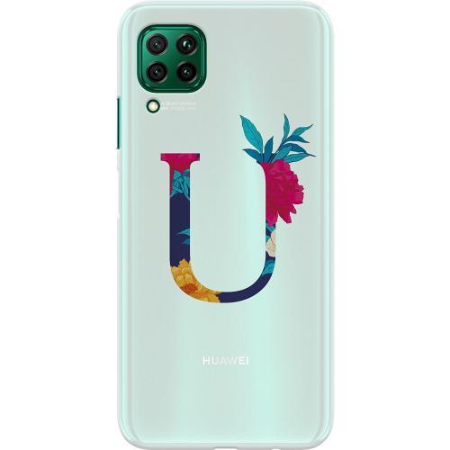Huawei P40 Lite Thin Case Bokstaven - U