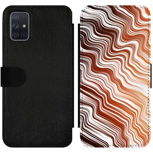 Samsung Galaxy A71 Wallet Slimcase Distorted Soundwaves