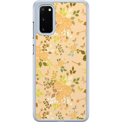 Samsung Galaxy S20 Hard Case (Transparent) Flowery Tapestry