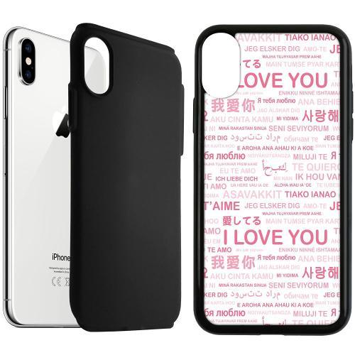 Apple iPhone XS Max Duo Case Svart International Love