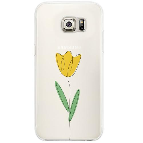 Samsung Galaxy S6 Edge Firm Case Painted Tulip