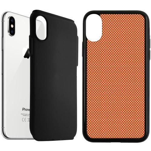 Apple iPhone XS Max Duo Case Svart Orange Droplets
