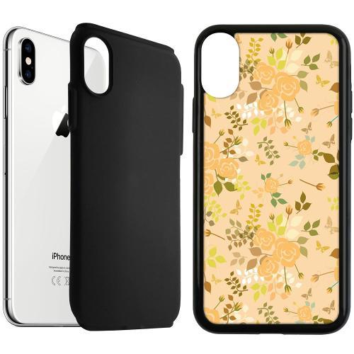 Apple iPhone XS Max Duo Case Svart Flowery Tapestry