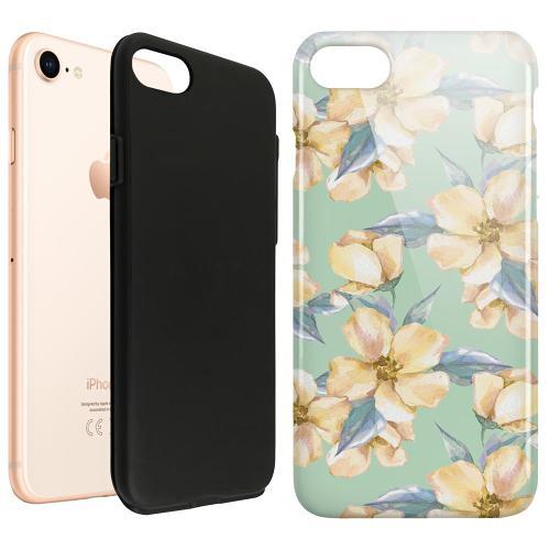 Apple iPhone SE (2020) LUX Duo Case Waterproof Flowers