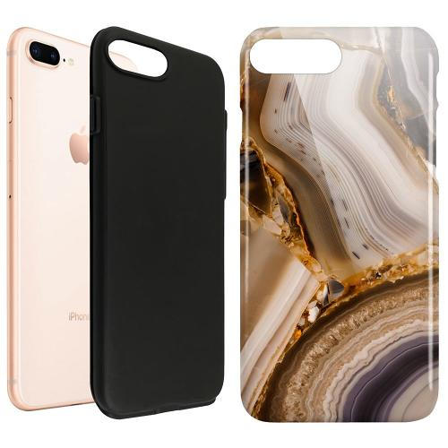 Apple iPhone 8 Plus LUX Duo Case Amber Agate