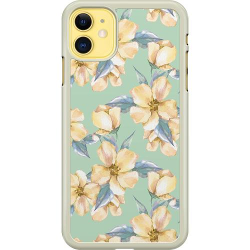 Apple iPhone 11 Hard Case (Transparent) Waterproof Flowers