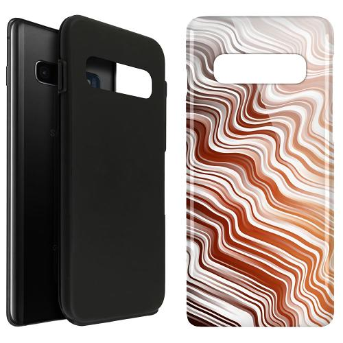 Samsung Galaxy S10 Plus LUX Duo Case Distorted Soundwaves