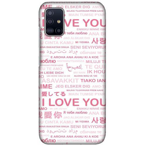 Samsung Galaxy A51 LUX Mobilskal (Matt) International Love