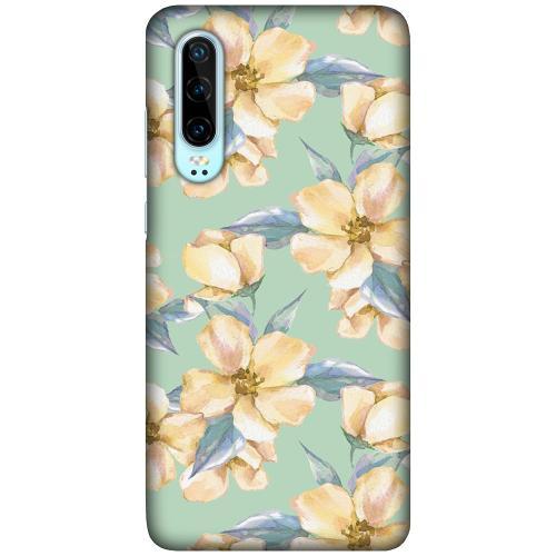Huawei P30 LUX Mobilskal (Matt) Waterproof Flowers